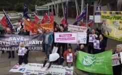 Glasgow Against Closures at Scottish Parliament